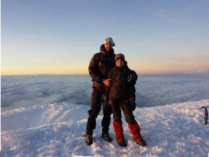 In Equador auf dem Cayame auf knapp 6000 m und 6 h Aufstieg